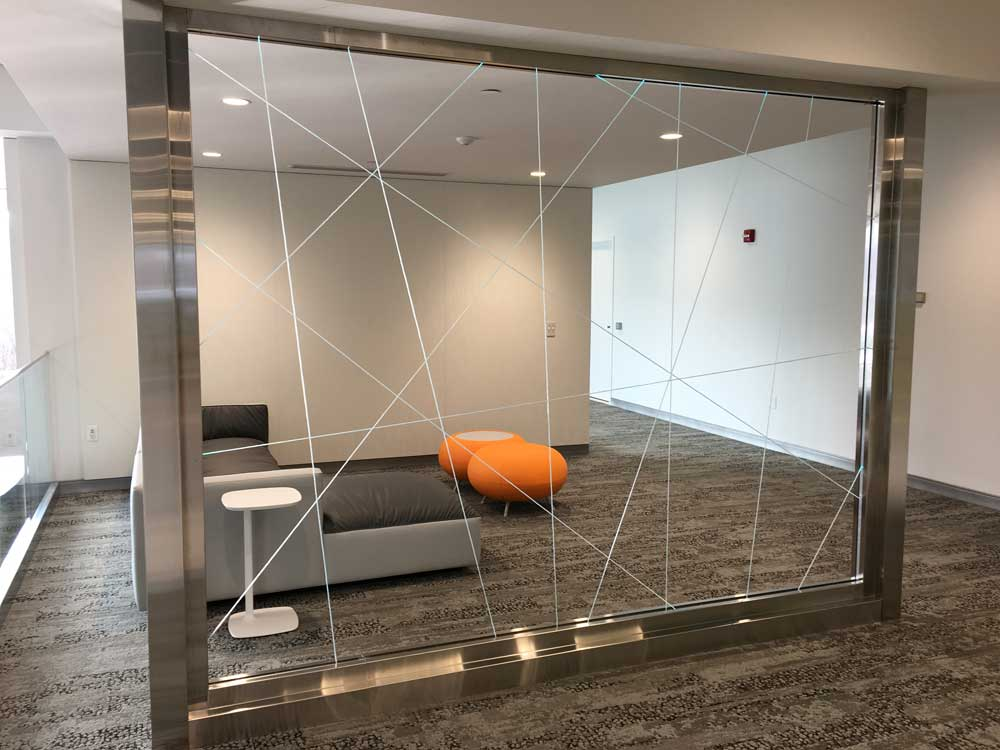 Unity Construction Partners with Diverse Team to Implement Fiber Optic Light Wall in New Siemens Lobby & Unity Construction Partners with Diverse Team to Implement Fiber ...